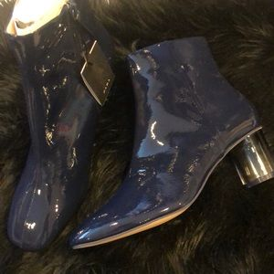 Brand new Zara booties with clear heel